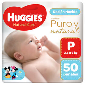 Pañal Huggies Natural Care Talla P 50 unid