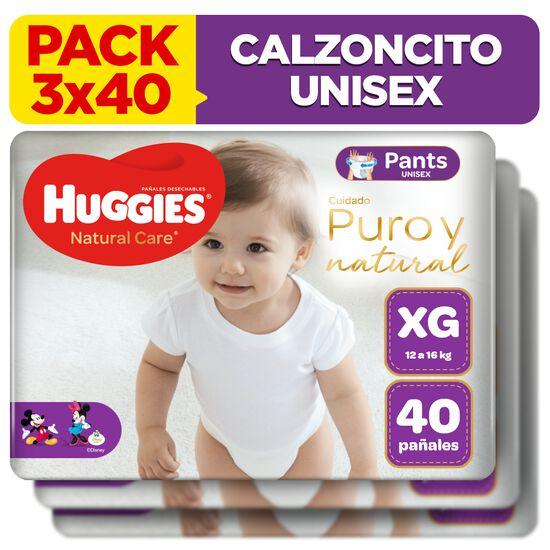 Combo 3 packs Calzoncitos Huggies Natural Care Unisex