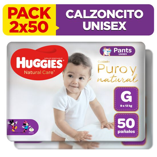 Combo 2 packs Calzoncitos Huggies Natural Care Unisex