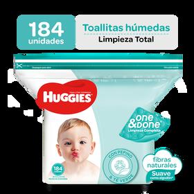 Toallitas Húmedas Huggies One&Done 184 unid