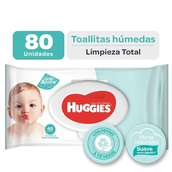 Toallitas Húmedas Huggies One&Done 80 unid