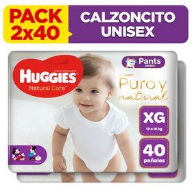 2 Packs Pants Huggies Natural Care Talla XG 40 unid