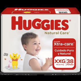 Pañal Huggies Natural Care Xtracare Talla XXG 38 unid