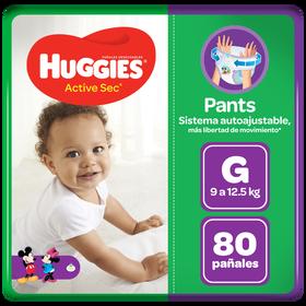 Pants Huggies Active Sec Talla G 80 unid