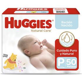 Pañal Huggies Natural care Froz. Talla P 50 unid