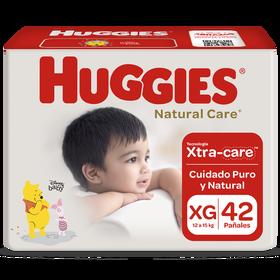 Pañal Huggies Natural Care Xtracare Talla XG 42 unid