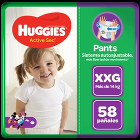 Pants Huggies Active Sec Talla XXG 58 unid