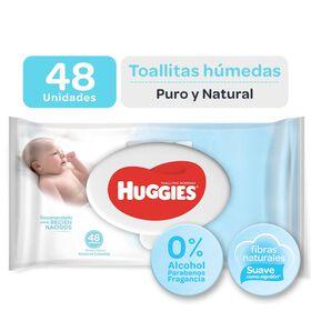 Toallitas humedas huggies Puro y Natural 48 unid