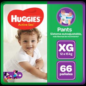 Pants Huggies Active Sec Talla XG 66 unid