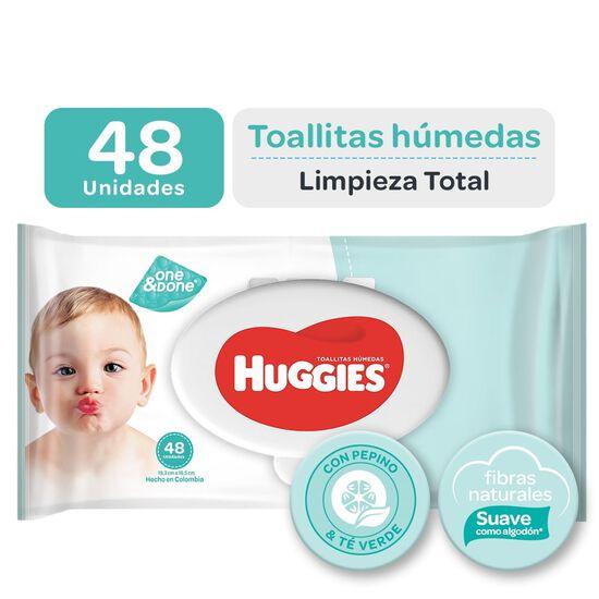 Toallitas Húmedas Huggies One&Done 48 unid