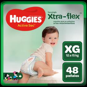Pañales Huggies Active Sec Xtra-Flex XG 48 unid