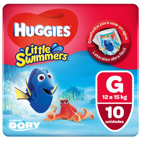 Pañal Huggies Little Swimmers Talla G Dory 10 unid