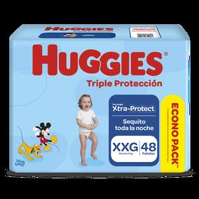 Pañales Huggies Triple Protección Xtraprotec Talla XXG 48 unid