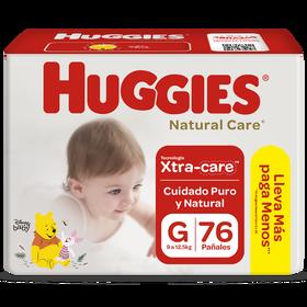 Pañal Huggies Natural Care Xtracare Big Talla G 76 unid